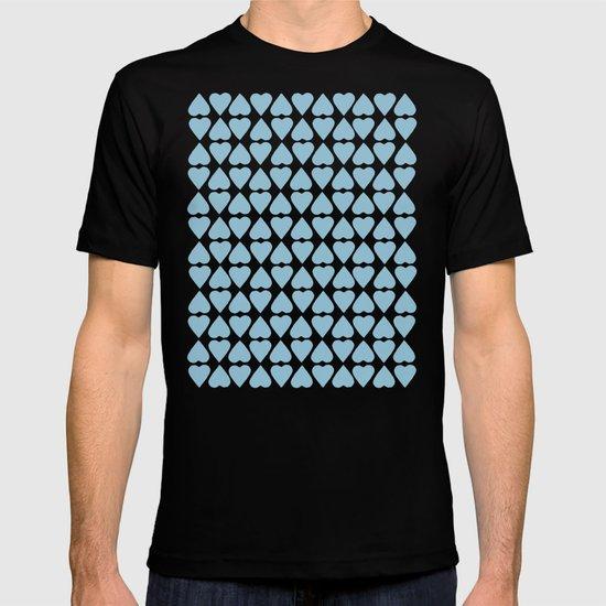 Diamond Hearts Repeat Blue T-shirt
