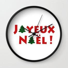 Joyeux Noël ! Wall Clock