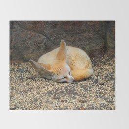 Time to Sleep Little Fennec Fox Throw Blanket