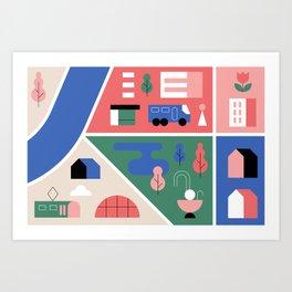 City Map Fragment IX Art Print