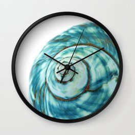 Blue Seashell Beach Photo Wall Clock