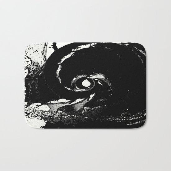 Whirlpool Of Black Bath Mat