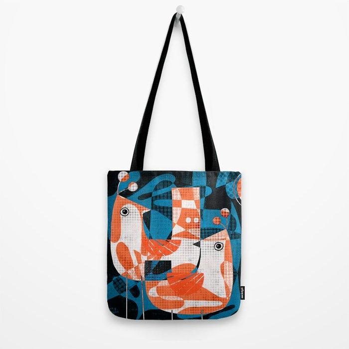 LEAFY BIRDS Tote Bag