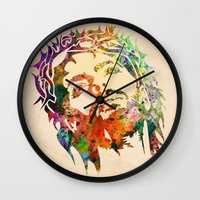 jesus Wall Clocks featuring JESUS  by mark ashkenazi