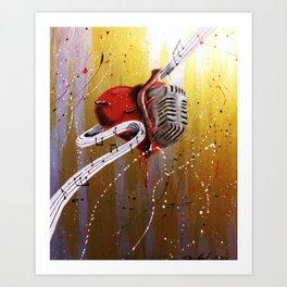 Music is my Heart Art Print