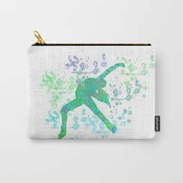 Figure Skater  Watercolor Design Style 2 Carry-All Pouch