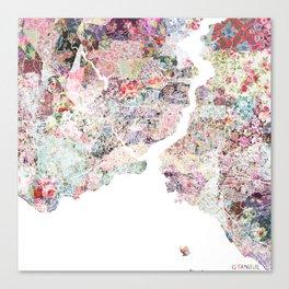 Istanbul map Canvas Print