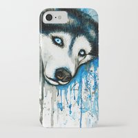 husky iPhone & iPod Cases featuring Husky by Villarreal