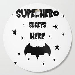 Superhero Sleeps Here Cutting Board