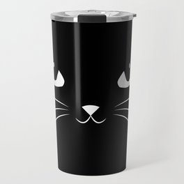 Cute Black Cat Travel Mug