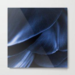 Succulent Leaf In Blue Color #decor #society6 #homedecor Metal Print