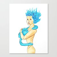tits Canvas Prints featuring Eel Tits by DClemDesigns