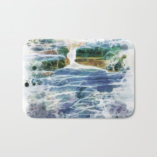 Abstract rock pool in the rough rocks Bath Mat