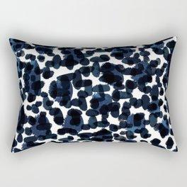 Blue Abstract Watercolour Rectangular Pillow