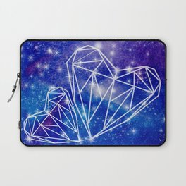 Two hearts on the watercolor galaxy, starry night, Valentines day gift Laptop Sleeve