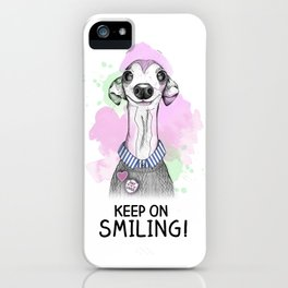 Italian Greyhound smiles iPhone Case