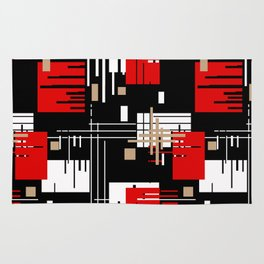 Abstract pattern Retro 2 Rug