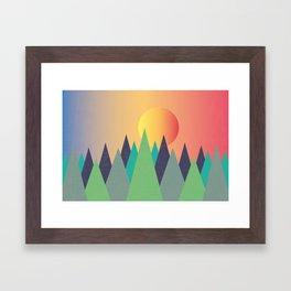 Mountains - The Sunset Framed Art Print