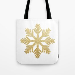 Gold Glitter Snowflake Tote Bag
