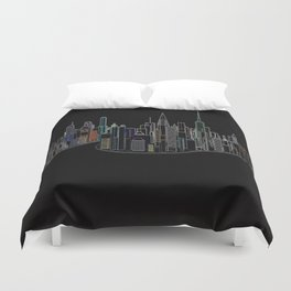 The Glowing City Duvet Cover