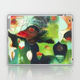 """Inner Whisper #1"" Original Painting by Flora Bowley Laptop & iPad Skin"
