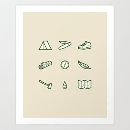 Outdoor Icons Art Print