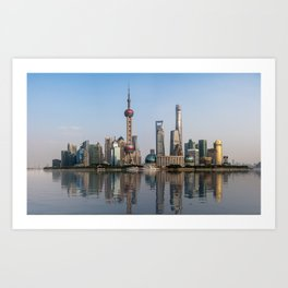 Reflections of Shanghai Art Print