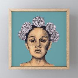 Blue & Yellow Framed Mini Art Print