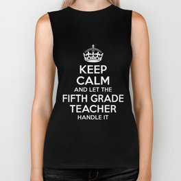 keep calm and let the fifth grande daughter Biker Tank