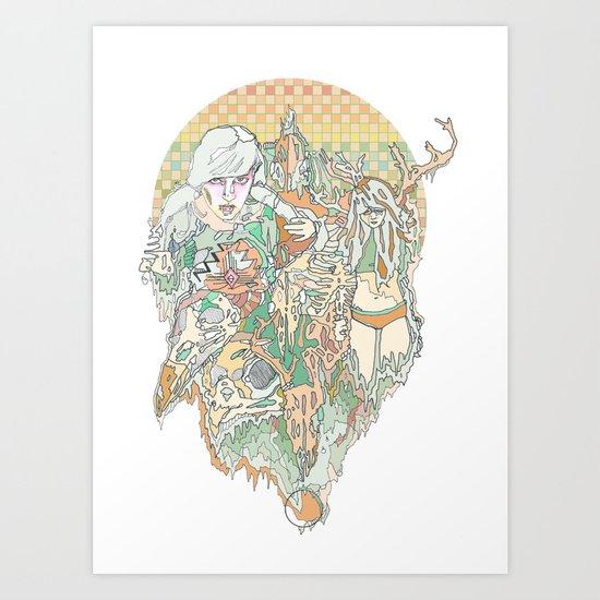 heart & desert Art Print