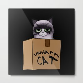 Unhappy Cat Metal Print