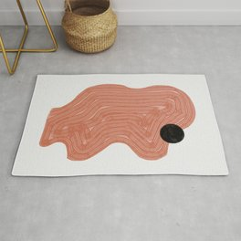 Strong terracotta abstract composition Rug