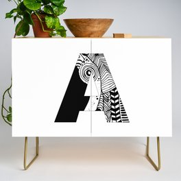 The letter A Credenza