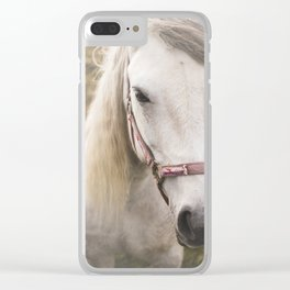 Meditating Horse Clear iPhone Case