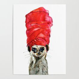 Red Turban Poster