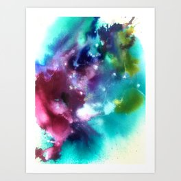 Abstract in Purple and Blue Art Print