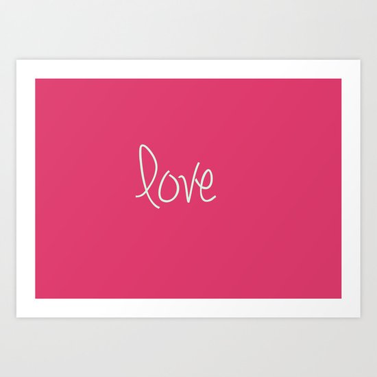 Love In Pink  Art Print