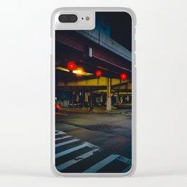 Brooklyn Street Scene Clear iPhone Case