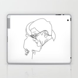 Pier Paolo Pasolini minimal line drawing Laptop & iPad Skin