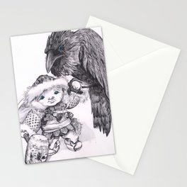 Odin and Huginn Stationery Cards