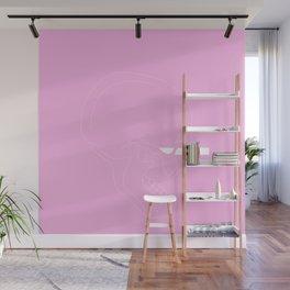 LINE #Skull (Pink) Wall Mural