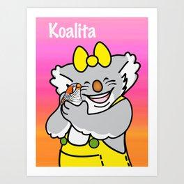 Koalita and the zebra finch Art Print