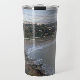 Langland Bay in Swansea Travel Mug