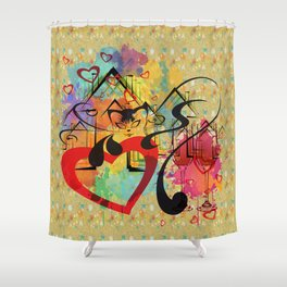 Liebe ist in der Luft - love is in the air Shower Curtain