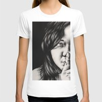 silent T-shirts featuring silent by dorilozada