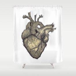 Stone Heart Shower Curtain
