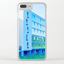Apartment buildings with outdoor facilities Clear iPhone Case