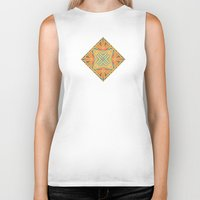 deco Biker Tanks featuring Deco abstraction by Steve W Schwartz Art