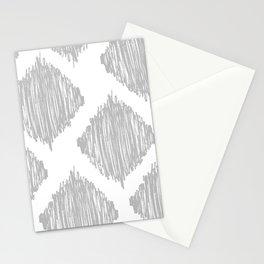 Gray Scribble Diamonds Stationery Cards