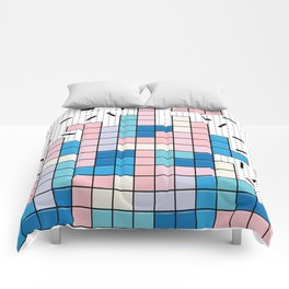 Memphis Tetris Comforters